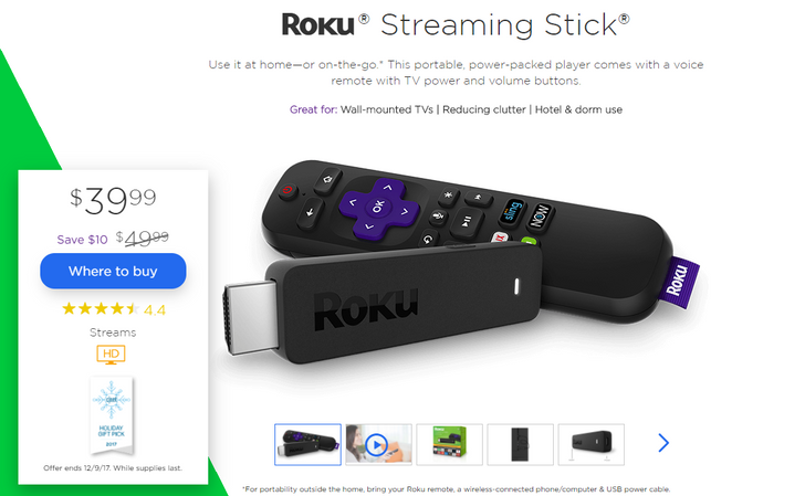 [Deal Alert] Roku's new Streaming Stick is down to $39.99 ($10 off)