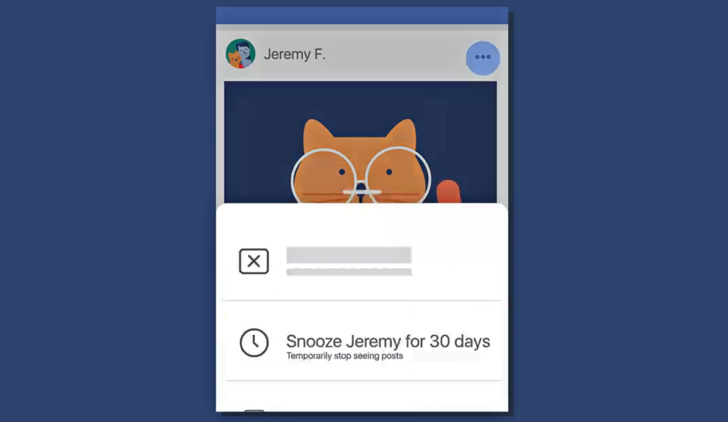 Facebook announces Snooze feature to give you a break from certain people