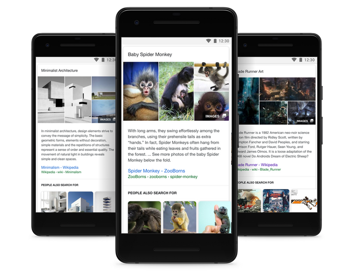Google search gets expanded snippets, improved Knowledge Panels, and smarter suggested content