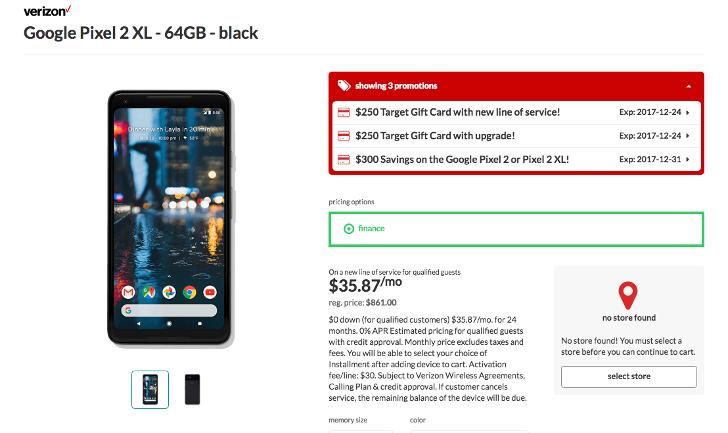 [Deal Alert] Verizon Pixel 2 and 2 XL are $550 off (GC + bill credit), original Pixel is $200 off (GC) at Target
