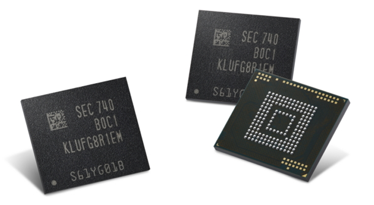 Samsung starts manufacturing 512 GB eUFS chips for mobile devices