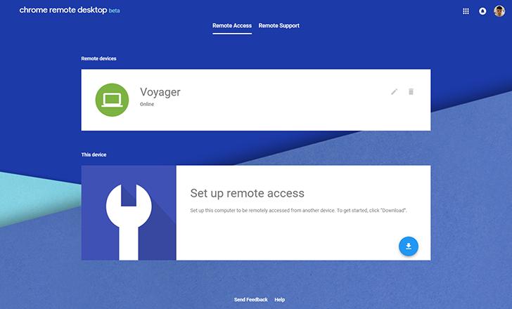 Google releases web app version of Chrome Remote Desktop