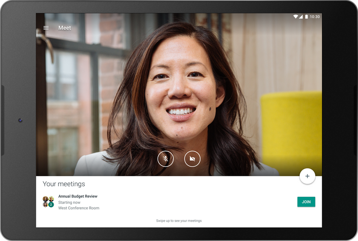 Hangouts Meet now supports tablets