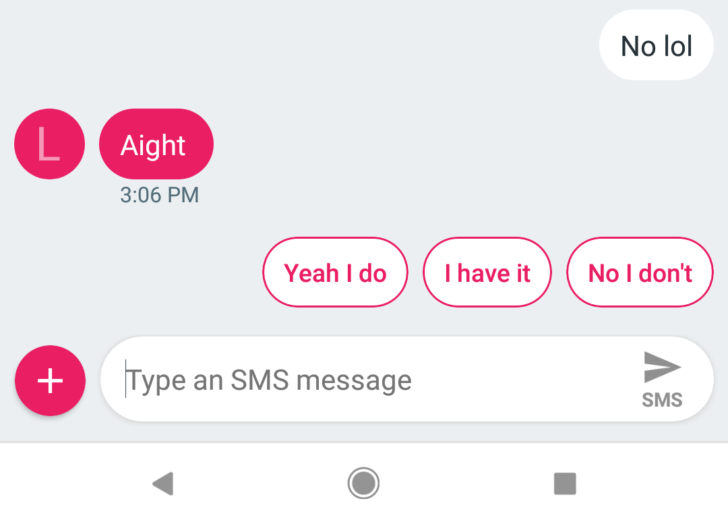 Project Fi gets smart replies via the Android Messages app
