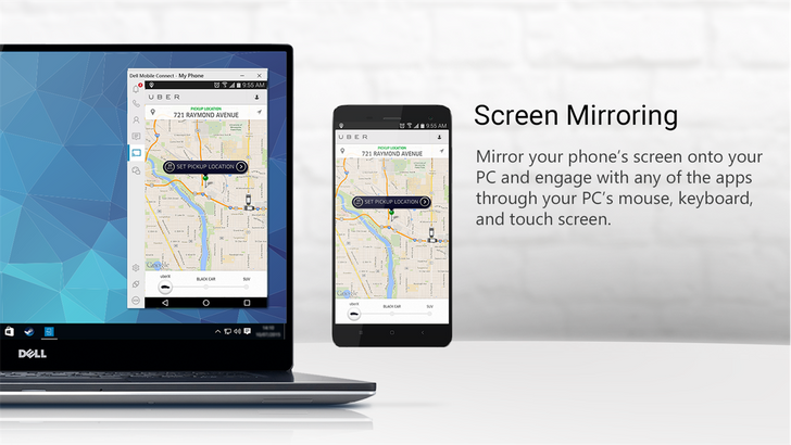 Dell Mobile Connect mirrors your phone's screen on your Dell or Alienware PC