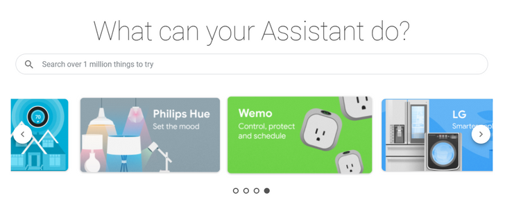 Google Assistant gets a proper web directory for all the possible integrations and services
