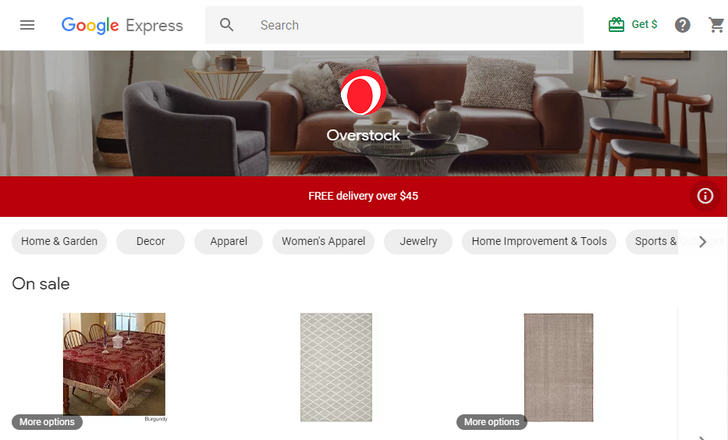 Google Express adds Overstock to its list of shops you can buy from
