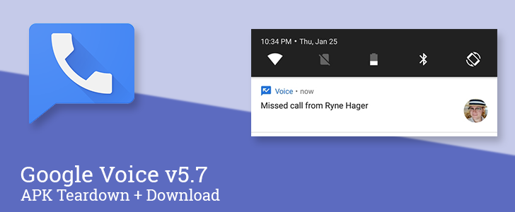 [Update: Official changelog] Google Voice v5.7 prepares to enable VoIP directly within the app [APK Teardown]