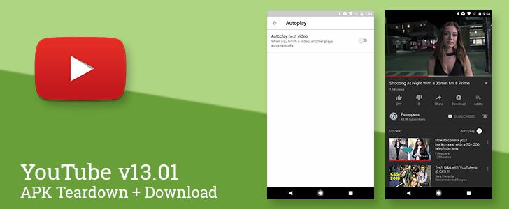 YouTube v13.01 continues development on dark mode, may enable swipe-to-skip ads, and relocates autoplay setting [APK Teardown]