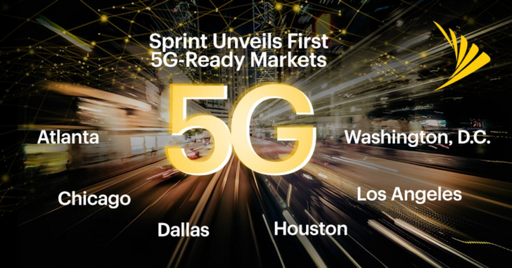 Sprint announces its first six Massive MIMO 5G markets, rollout starting in April