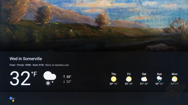 [Update: 1st gen Chromecast unsupported] The first Google Home visualization is live - see the weather on your Chromecast