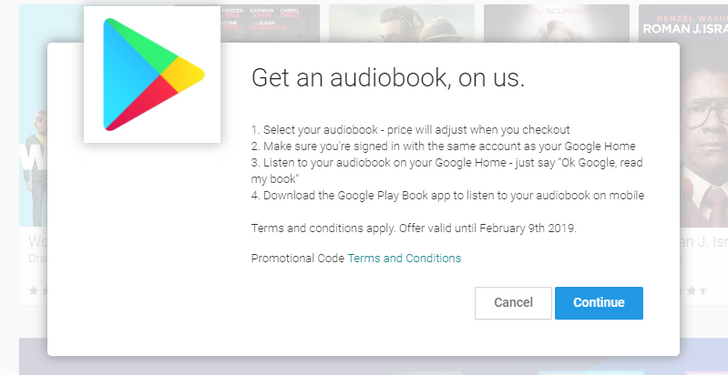 [Deal Alert] Check your email, Google is giving free audiobooks to some people with a Google Home