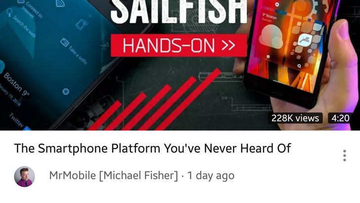 YouTube app testing view count on thumbnail, adjusts layout for title and channel logo