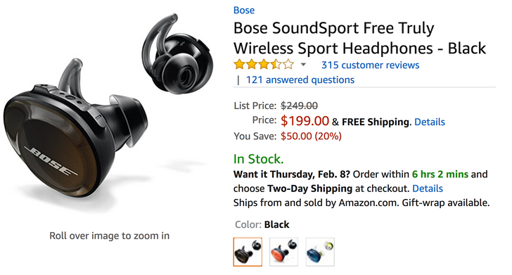 [Deal Alert] Bose SoundSport Free truly wireless Bluetooth headphones now $199 at most retailers ($50 off)