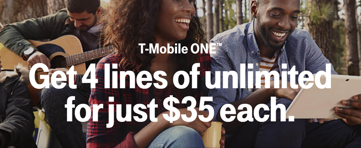 T-Mobile is offering 4 ONE lines for $35 each for Valentine's Day