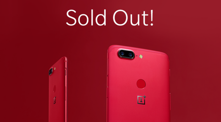 The Lava Red OnePlus 5T is sold out for good in the US and Canada