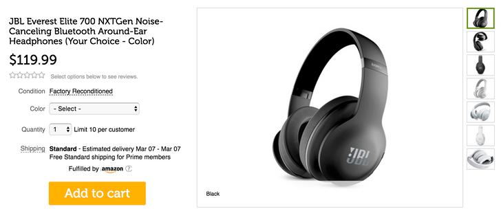 [Deal Alert] Refurbished JBL Everest Elite 700 noise-canceling Bluetooth headphones are $119.99 on Woot