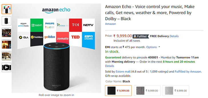 Echo and other Alexa speakers are now officially available in India