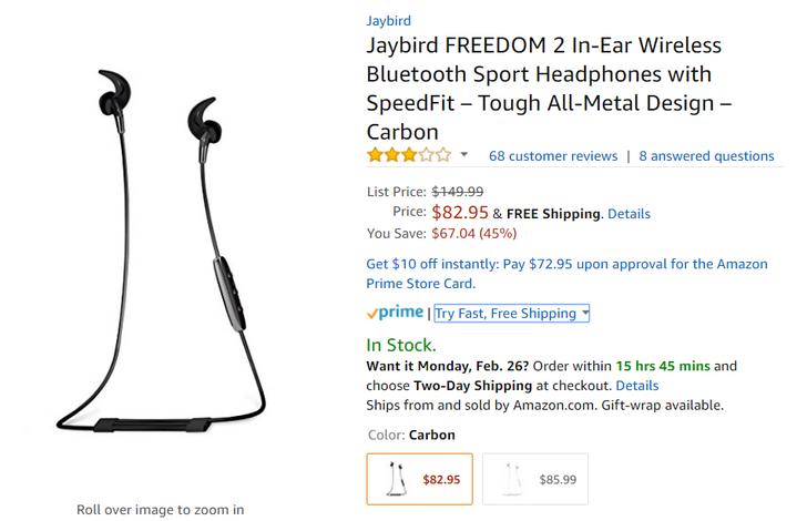 [Deal Alert] Jaybird Freedom 2 down to $82.95 on Amazon