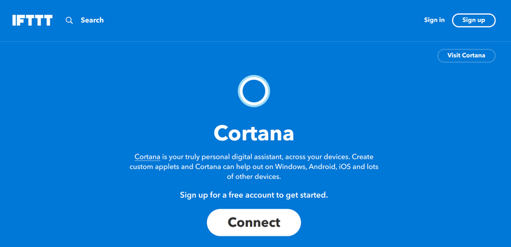 IFTTT has added a Cortana channel, plus a couple of other services
