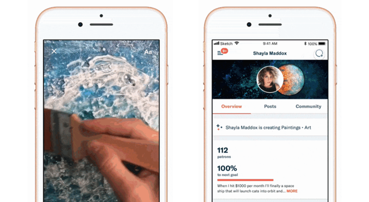 Patreon adds Snapchat-like 'Lens' to its mobile apps