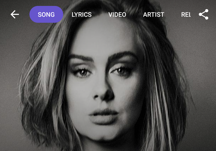 Shazam updates its song page with fullscreen artist images and new menu