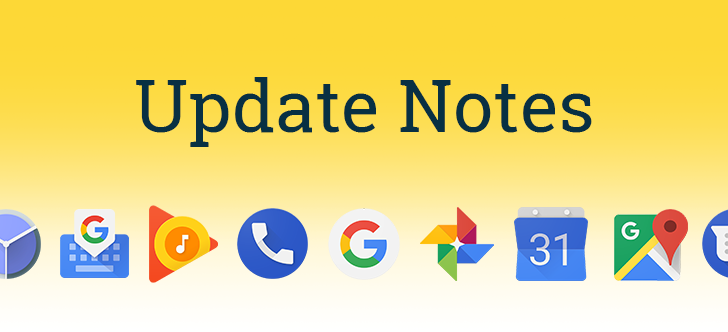 Update Notes for Gmail, Photoscan, Google+, and Trips (Feb 11, 2018)