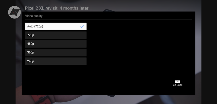 YouTube for Android TV adds manual resolution selection, starts rolling an updated interface