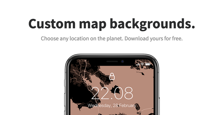 Alvar Carto lets you create beautiful map wallpapers for your phone