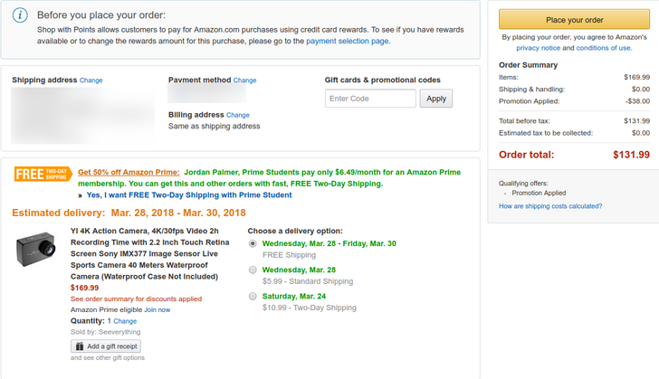 [Deal Alert] YI 4K action camera down to $131.99 ($38 off) on Amazon with code