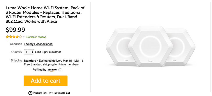 [Deal Alert] Refurbished set of 3 Luma mesh Wi-Fi router modules for $99.99 ($50 off) today only