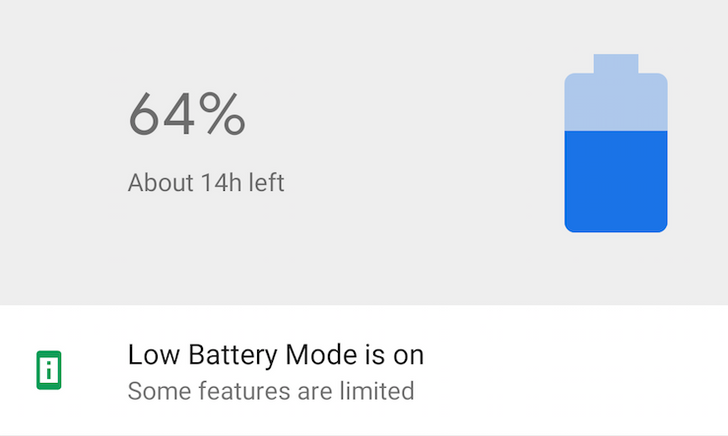 Android P feature spotlight: Battery saver gets renamed several times, and it can be scheduled for anywhere between 5% and 70%