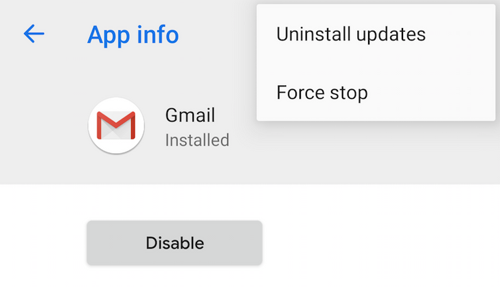 Android P feature spotlight: App info gets changed up, with 'Force stop' and app version now hidden away