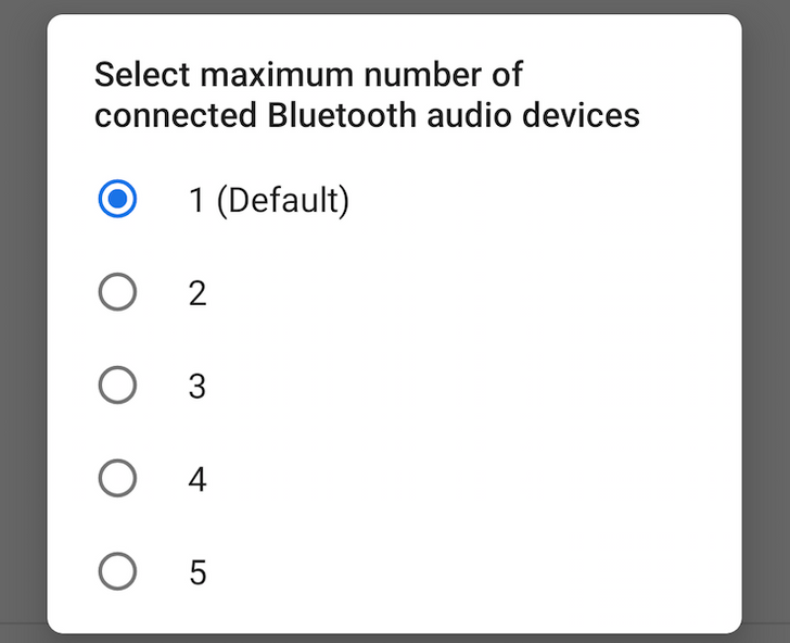Android P feature spotlight: Up to 5 Bluetooth audio devices can be connected simultaneously via a new developer option
