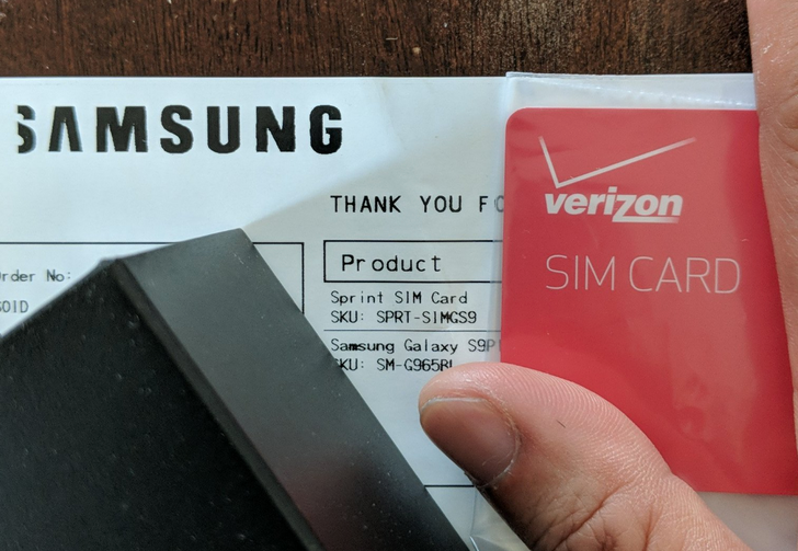 [Update: Correct SIMs being sent out] Samsung ships out Sprint Galaxy S9s with Verizon SIM cards, chaos ensues