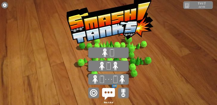 AR Smash Tanks! is a fun way to spend an afternoon smashing tanks into one another