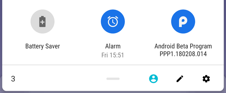 [Update: Gone in DP2] Android P feature spotlight: New alarm toggle shows upcoming alarms and lets you quickly set new ones