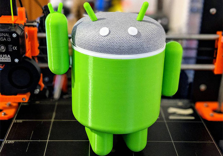 Give your Google Home Mini an adorable 3D-printed Android robot body