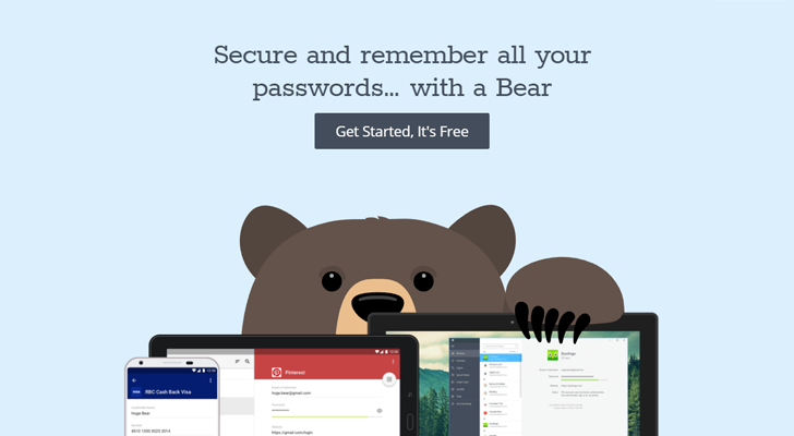 RememBear is a password manager for Windows/Mac/iOS/Android from the makers of TunnelBear