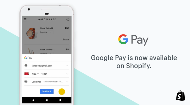 E-commerce firm Shopify now supports Google Pay