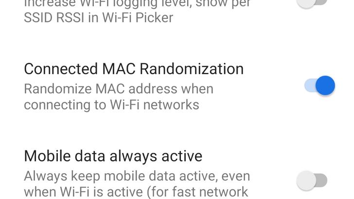 Android P feature spotlight: Per-network MAC address randomization added as experimental feature