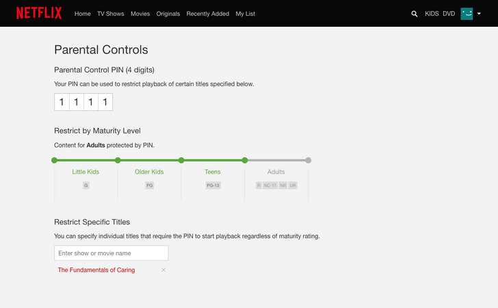 Netflix adding more granularity and transparency to its parental controls