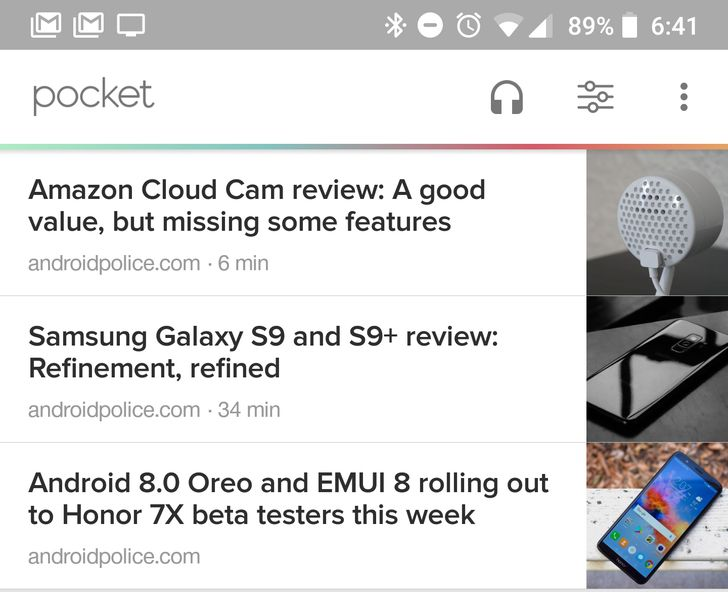 Pocket updated with reading time estimates