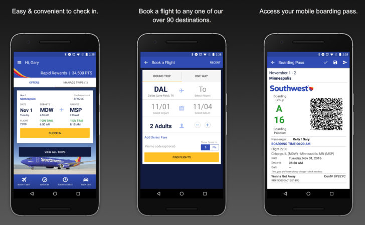 Southwest Airlines app adds fingerprint authentication and more