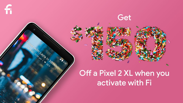 [Deal Alert] The Pixel 2 XL is $699 ($150 off) on Project Fi for today only