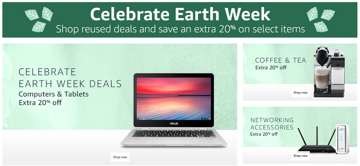 [Deal Alert] Amazon Warehouse Deals offering extra 20% off of thousands of products for Earth Week