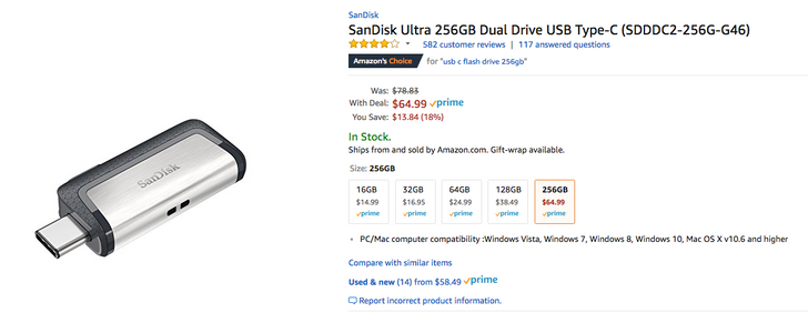 [Deal Alert] 256GB SanDisk Ultra USB Type-C dual drive falls to all-time low of $64.99 on Amazon