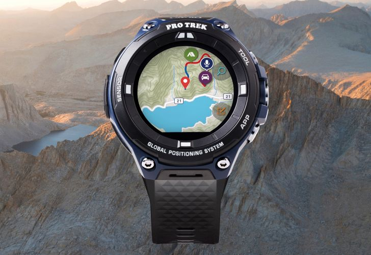 Casio's new PRO TREK Wear OS watch has a slightly lower price and a flat tire display