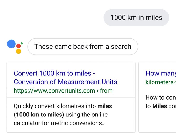 Unit conversions are currently broken on Google Assistant [Update]