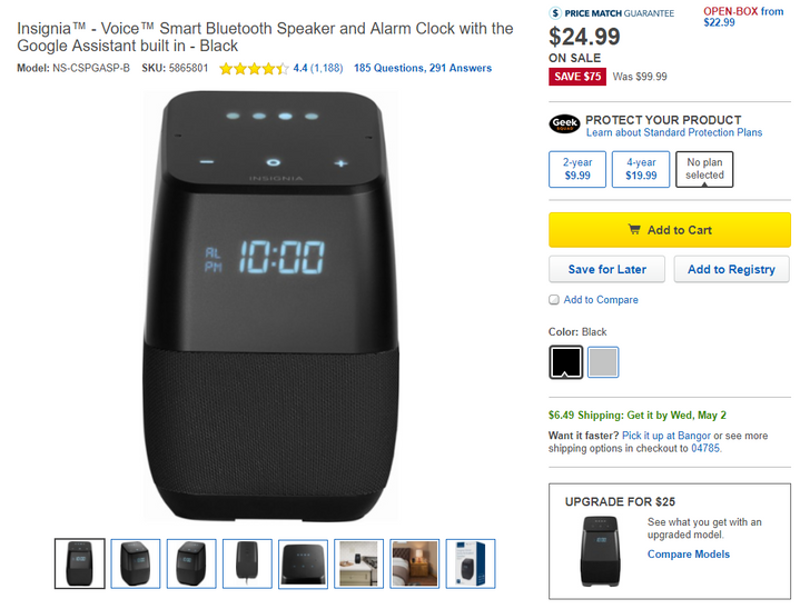 [Deal Alert] Insignia Google Assistant speaker and alarm clock down to $24.99, $49.99 for the portable version